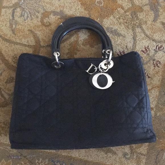 4c26aa0b4cef Christian Dior Handbags - Authentic Microfiber Lady Dior w silver hardware.